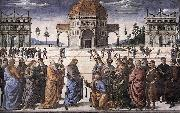 PERUGINO, Pietro Christ Handing the Keys to St. Peter af oil painting picture wholesale