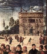 PERUGINO, Pietro Christ Handing the Keys to St. Peter (detail) as oil painting picture wholesale