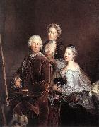 PESNE, Antoine Self-portrait with Daughters sg oil painting picture wholesale