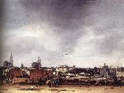 POEL, Egbert van der View of Delft after the Explosion of 1654 af oil painting artist
