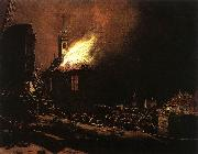 POEL, Egbert van der The Explosion of the Delft magazine af oil painting artist