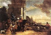 POELENBURGH, Cornelis van Departure of an Oriental Entourage f oil painting picture wholesale