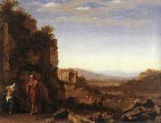 POELENBURGH, Cornelis van Rest on the Flight into Egypt af oil painting picture wholesale