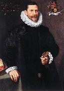 POURBUS, Frans the Younger Portrait of Petrus Ricardus zg oil painting artist