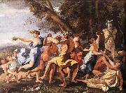 POUSSIN, Nicolas Bacchanal before a Statue of Pan zg oil painting picture wholesale