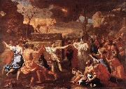 POUSSIN, Nicolas The Adoration of the Golden Calf g oil painting picture wholesale