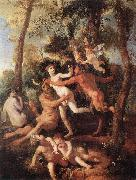 POUSSIN, Nicolas Pan and Syrinx fh oil painting picture wholesale