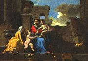 POUSSIN, Nicolas Holy Family on the Steps af oil painting picture wholesale