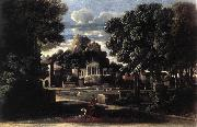 POUSSIN, Nicolas Landscape with the Gathering of the Ashes of Phocion by his Widow af oil painting picture wholesale