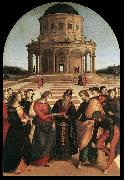 RAFFAELLO Sanzio Spozalizio (The Engagement of Virgin Mary) af oil painting picture wholesale