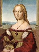 RAFFAELLO Sanzio Lady with a Unicorn dfg oil painting picture wholesale