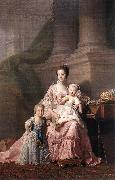 RAMSAY, Allan Queen Charlotte with her Two Children dy oil painting artist