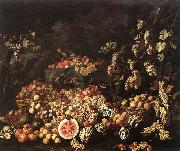 RECCO, Giuseppe Still-Life with Fruit and Flowers oil painting picture wholesale