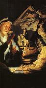 REMBRANDT Harmenszoon van Rijn The Moneychanger (detail) dry oil painting picture wholesale