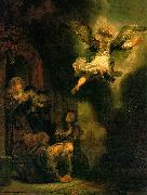 REMBRANDT Harmenszoon van Rijn The Archangel Leaving the Family of Tobias oil painting artist
