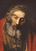 REMBRANDT Harmenszoon van Rijn The Return of the Prodigal Son (detail) oil painting artist