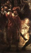 REMBRANDT Harmenszoon van Rijn The Nightwatch (detail) oil painting artist