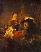REMBRANDT Harmenszoon van Rijn Rembrandt and Saskia in the Scene of the Prodigal Son in the Tavern dh oil painting picture wholesale