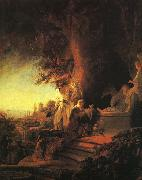 REMBRANDT Harmenszoon van Rijn The Risen Christ Appearing to Mary Magdalen st oil painting picture wholesale