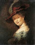 REMBRANDT Harmenszoon van Rijn Portrait of the Young Saskia xfg oil painting artist
