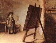 REMBRANDT Harmenszoon van Rijn The Artist in his Studio oil painting artist