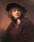 REMBRANDT Harmenszoon van Rijn Self Portrait as a Young Man  dh Sweden oil painting reproduction