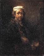 REMBRANDT Harmenszoon van Rijn Portrait of the Artist at His Easel gu oil painting picture wholesale