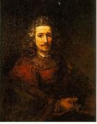 REMBRANDT Harmenszoon van Rijn Man with a Magnifying Glass du Sweden oil painting reproduction