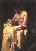 RIBALTA, Francisco Christ Embracing St Bernard xfgh oil painting artist