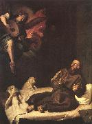 RIBALTA, Francisco St Francis Comforted by an Angel oil painting artist