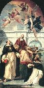 RICCI, Sebastiano St Pius, St Thomas of Aquino and St Peter Martyr oil painting picture wholesale