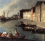 RICHTER, Johan View of the Giudecca Canal (detail) oil painting artist