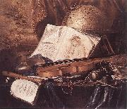 RING, Pieter de Still-Life of Musical Instruments oil painting artist