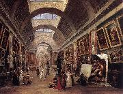 ROBERT, Hubert Design for the Grande Galerie in the Louvre QAF oil painting artist