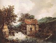 RUISDAEL, Jacob Isaackszon van Two Watermills and an Open Sluice near Singraven oil painting picture wholesale