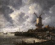 RUISDAEL, Jacob Isaackszon van The Windmill at Wijk bij Duurstede af oil painting picture wholesale