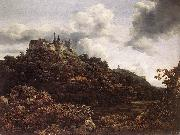 RUISDAEL, Jacob Isaackszon van Bentheim Castle oil painting picture wholesale