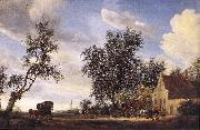 RUYSDAEL, Salomon van Halt at an Inn af oil painting picture wholesale