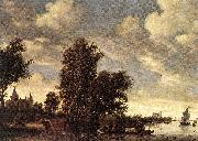 RUYSDAEL, Salomon van The Ferry Boat dh oil painting picture wholesale