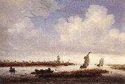 RUYSDAEL, Salomon van View of Deventer Seen from the North-West af oil painting picture wholesale