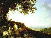SAFTLEVEN, Cornelis Hunter Sleeping on a Hillside sg oil painting picture wholesale
