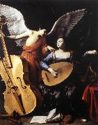 SARACENI, Carlo Saint Cecilia and the Angel sd oil painting picture wholesale