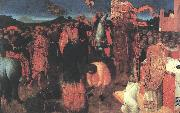 SASSETTA Death of the Heretic on the Bonfire af oil painting artist