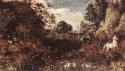 SAVERY, Roelandt The Garden of Eden  af oil painting artist