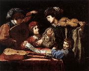 SPADA, Lionello The Concert wtr oil painting artist