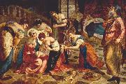 TINTORETTO, Jacopo The Birth of St. John the Baptist wr oil painting picture wholesale