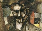 Juan Gris The head of man oil painting picture wholesale