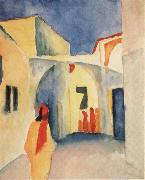 August Macke Bilck in eine Gasse in Tunis oil painting picture wholesale