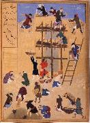 Bihzad Building ot Castle Khawarnaq,wherein the chamber of the seven icons will be hidden oil painting artist