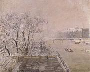 Camille Pissarro The Louvre under snow oil painting picture wholesale